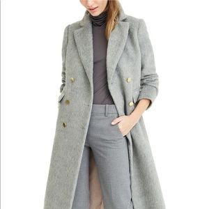 J.Crew Collection Long Brushed Wool Gray Topcoat